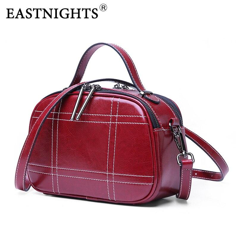 EASTNIGHTS Woman Bags Luxury Handbags Ladies Genuine Leather Mini Retro Handbag Women Crossbody Messenger Bag TW2824