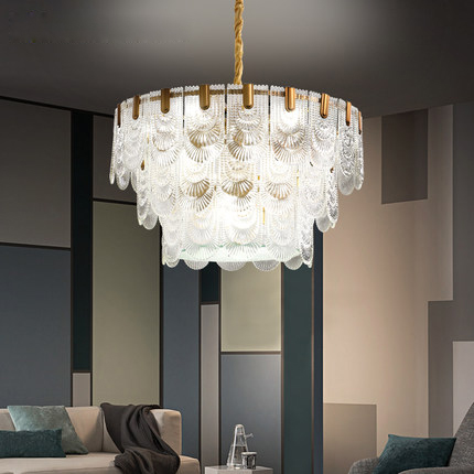 LED Pendant Lights Fixture American Modern Glass Copper Hanging Lamp Romantic Home Indoor Lighting Living Room Bedroom Lustre in Pendant Lights from Lights Lighting