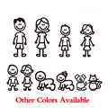 car styling Custom Family Member Viny Decal Car Stick Figure DIY Adhesive Window Car Stickers Waterproof Auto Sticker