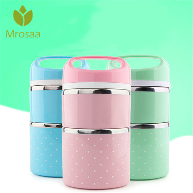 2f0f182f54e8 US $9.84 15% OFF|Mrosaa Japanese Portable Bento Lunch Case Thermo Leak  Proof Stainless Steel Cute Food Box Container Kids Picnic School Hot  Sale-in ...