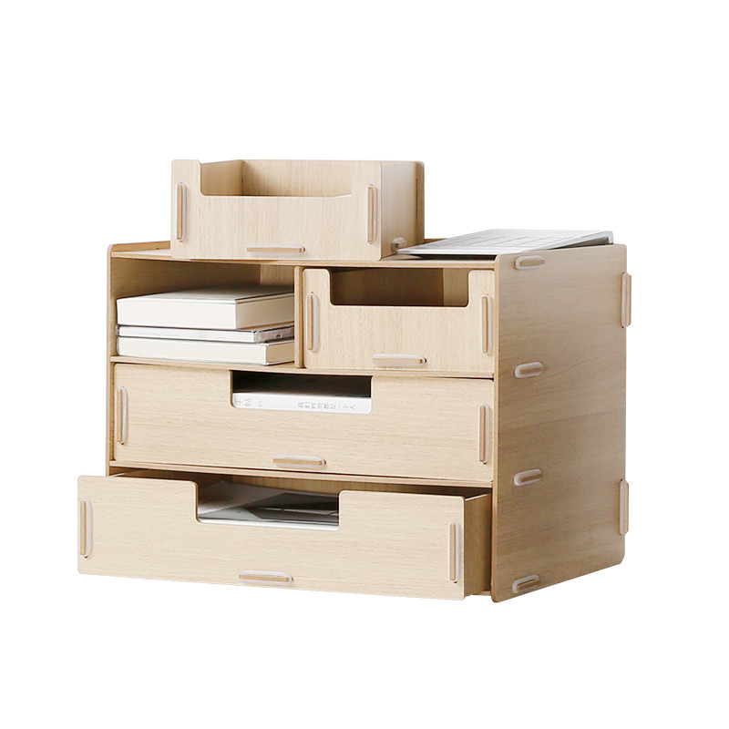 cheap office storage. wooden office desk organizer modern style colorful cosmeticssundries storage box with drawers a4 papers cheap
