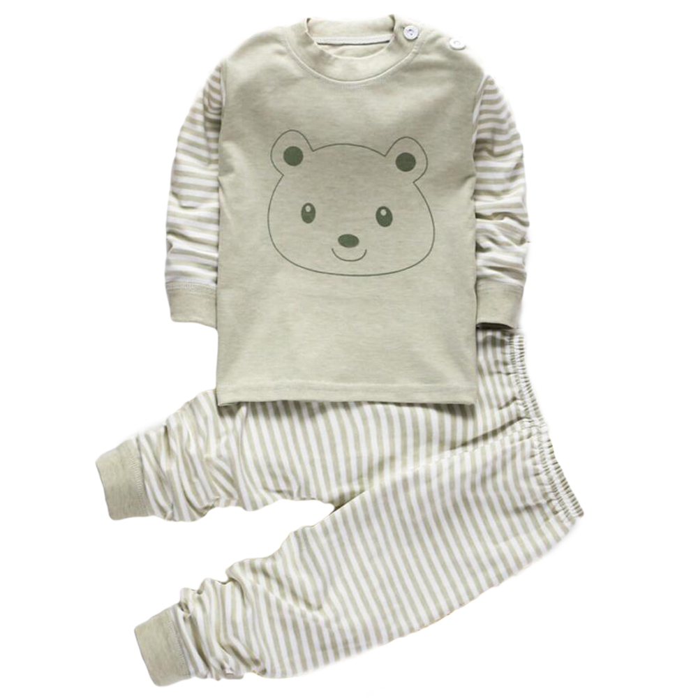 2 Piece Pjs Toddler Cotton Baby Pajamas for Newborn Infant Wear Baby Apparel Clothes Outfit for Baby boy Pjs Girl Sleepwear set