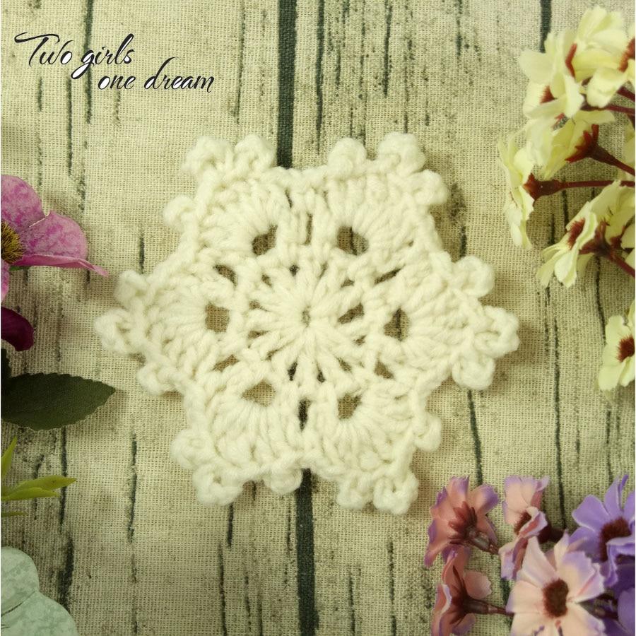 Crochet Wedding Gift Patterns: DIY Multicolor 11cm Snowflakes Coaster Hand Crochet
