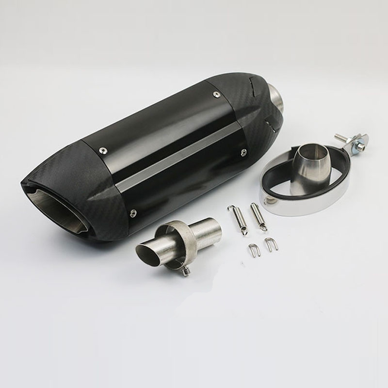 380mm ID: 51mm Motorcycle Scooter Modified Escape Moto Exhaust Muffler Pipe DB Killer GY6 CBR125 250 CB400 CB600 YZF FZ400 gy6 motorcycle scooter modified akrapovic yoshimura escape moto exhaust motorcycle muffler pipe cbr125 250 cb400 cb600 yzf fz400