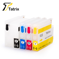 Tatrix For HP 932 933 932XL 933XL Refillable Ink Cartridge For HP Officejet 6600 H711a H711g