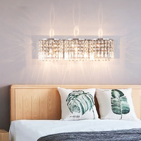 crystal wall light living room wall lamps bedside wall lights for bedroom interior wall sconce dressing table bedroom lighting