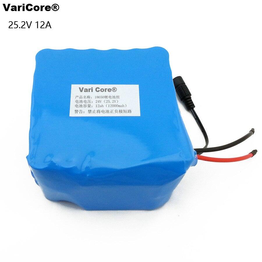 24 V 6s6p 25.2 V 12ah 18650 Batteria Al Litio/ciclomotore/moto/auto Elettrica Batteria Con Un Medico/lampade Escursione E Campeggio Per Garantire Una Trasmissione Uniforme