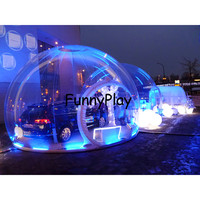 Transparent inflatable bubble lodge tent,giant camping inflatable snow bubble tents,inflatable tents for goods cars exhibition