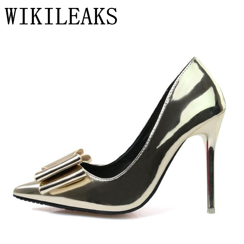 italian patent leather shoes women wedding shoes Super high heels designer luxury brand gold silver sexy pumps stiletto tacones fashion top brand italian designer mens wedding shoes men polish patent leather luxury dress shoes man flats for business 2016