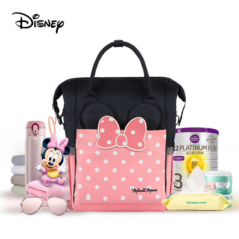 Disney diaper bag mickey baby bags for mom multifunctional large capacity insulation handbag backpack mummy bag