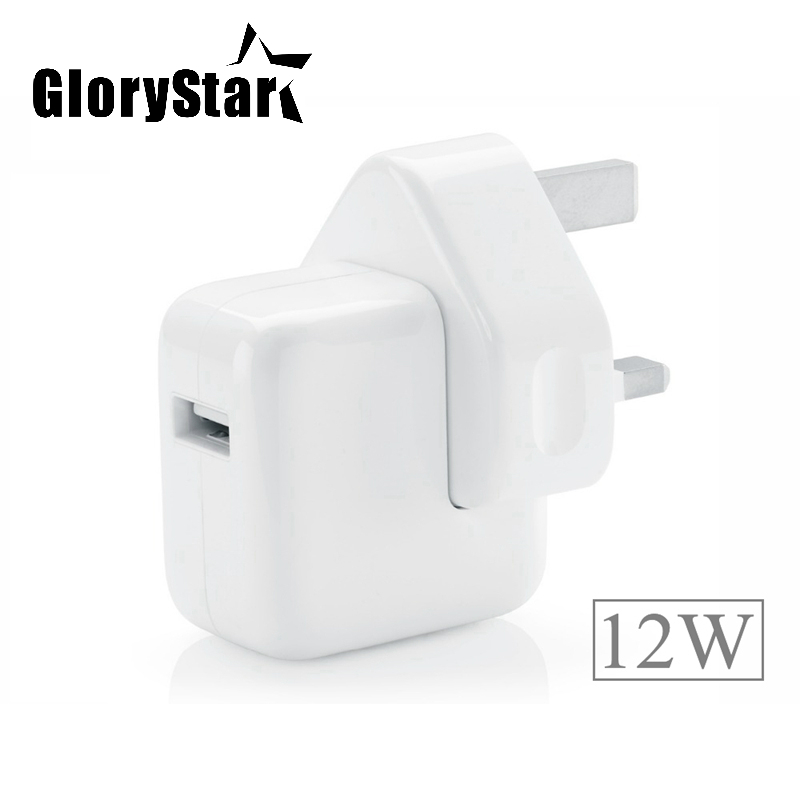 2.4A Fast Charging 12W USB Power Adapter Travel Charger for iPhone 5s 6 6s 7 Plus iPad Mini Air Samsung Phone and Tablet for UK