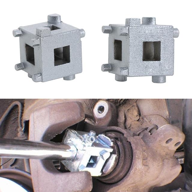 Auto Metal plata trasera 4 freno de disco de rueda pistón 3/8 pulgadas pinza viento atrás resistente cubo Motor duradero herramientas manuales de reparación