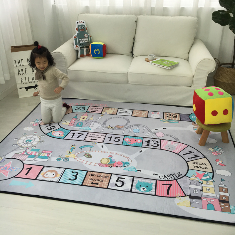 Cartoon pattern Print Carpets For Kids living room Game Rug For Child bedroom Crawl mat Yoga Mat Hanging basket PLAY pad