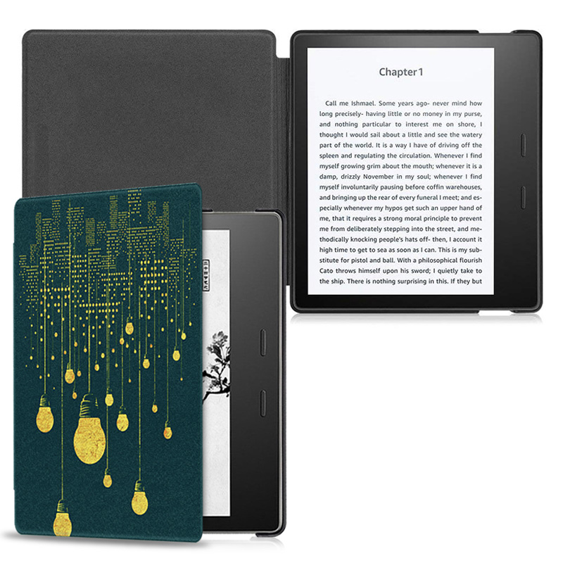 Aroita All-new Fashion Printed Case for 7 Kindle Oasis 2 (9th Generation) E-book with Auto Wake/Sleep  Oasis2 Cover