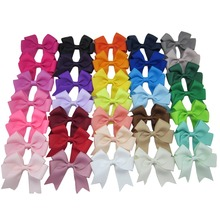 "XIMA 35colors 3""Ribbon Cheer Bow Boutique Hair  Bows with Clip for Kids Hair Accessories  35pcs/lot"