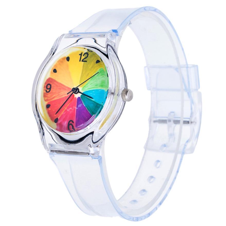 Kids Watches Lovely Children Students Boys Girls Wrist Watch Silica Gel Hot Casual Beautiful Flower Child Clock A60