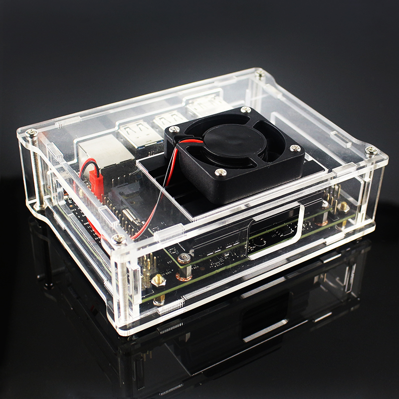New Arrival Acrylic Case Box With Cooling Fan For NVIDIA Jetson Nano Developer Kit Case Shell Enclosure Cooler