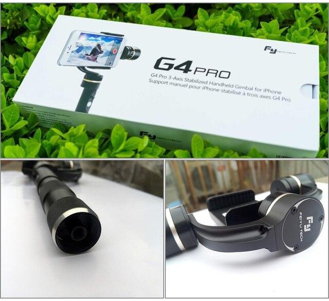 Feiyu FY G4 Pro 3 axis brushless handheld pan 360 degree limitless Smartphone stablizer gimbal pk Zhiyun Smooth C OSMO Mobile