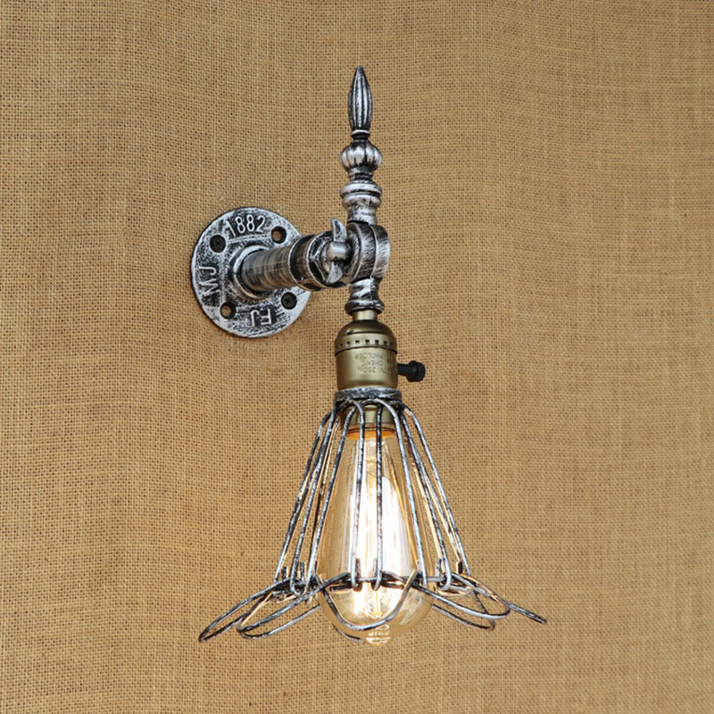 Vintage Loft Wall Light Europe Industrial Wall Sconce Edison Bulb Wall Lamp Retro Metal for living room bedroom restaurant bar free shipping retro vintage wall light punk wall light edison bulbs metal black painting ceiling light for living room loft lamp