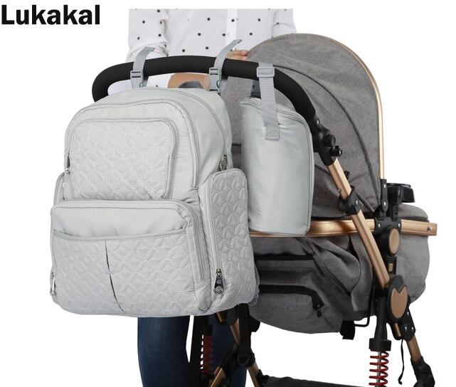 5pcs Set Baby Diaper Bag New Large Capacity Stroller Pram Organizer Nursing Bag Mummy Maternity Nappy Bag Backpack Travel Bag