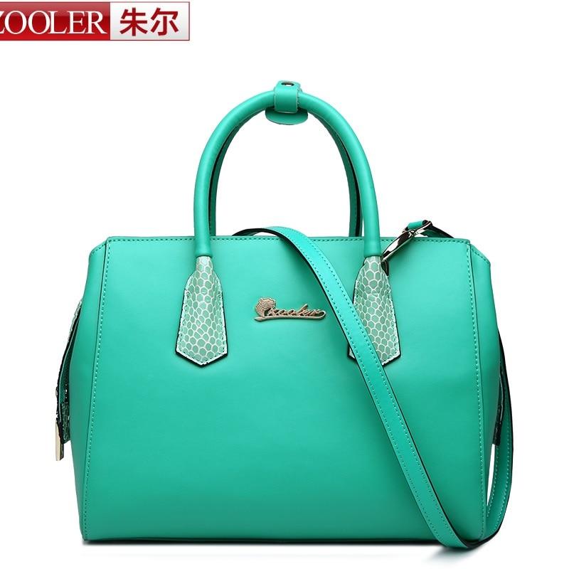 ФОТО ZOOLER women leather bag 2017 luxury colored solid genuine leather bag real leather handbag luxury  bolsa feminina #1621