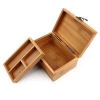 תיבת עץ תיבת עץ תיבת אחסון בציר סריג מרובה תכשיטי איפור קוסמטיקה ארגונית מיכל קופסאות עץ חריטה