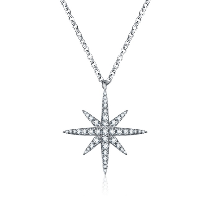 Lzeshine 925 sterling silver star pendant necklaces wedding fashion lzeshine 925 sterling silver star pendant necklaces wedding fashion jewelry silver charm cubic zircon necklace for aloadofball Image collections