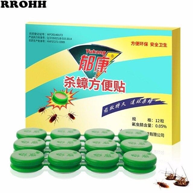 Простая и эффективная гелевая приманка для уничтожения тараканов, от тараканов, репеллент, борьба с вредителями, 12 шт./1 коробка