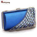 New Fashion Wedding Bridal Crystal Day Clutches Glitter Diamond PU Leather Women Party Evening Bag Shoulder Handbag Clutch Bag