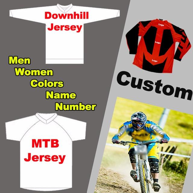 5bba872f8b Personalizado Homens Mulheres Jerseys MTB BMX Downhill Mountain Bike DH  Jerseys Jerseys Motocicleta Motocross T Camisas