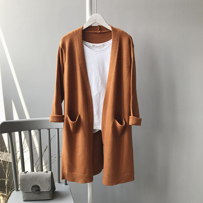 HTB10Me XiIRMeJjy0Fbq6znqXXa2 - FREE SHIPPING  Woman Cardigans Long sleeve  Coats With Pockets JKP184