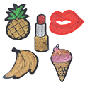 Hoomall 5PCs Sequins Patches For Clothing Motif Applique Embroidered Sticker Iron On DIY Garment Kids Sewing Accessories