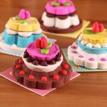 Милые канцелярские товары мультяшный торт стиль ластик Прекрасный