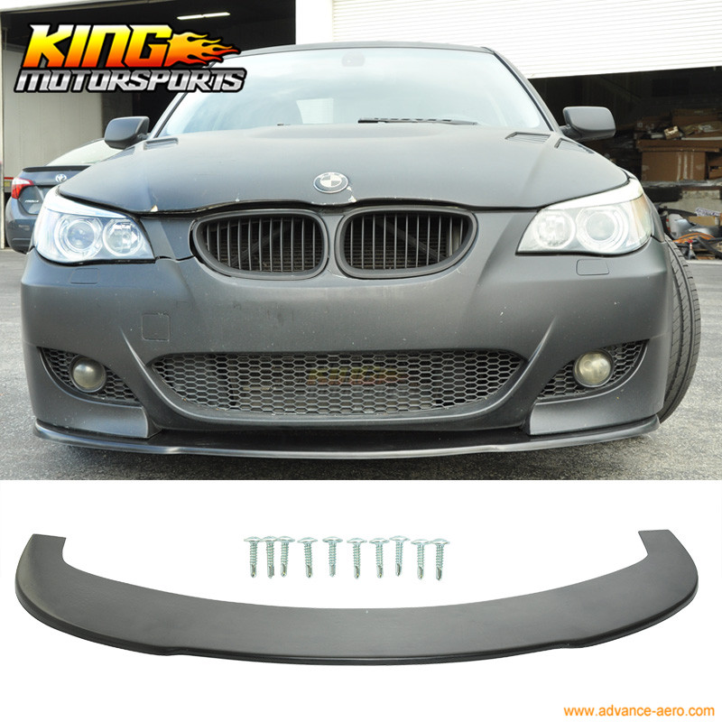 For 04-10 BMW E60 5 Series M5 Under Front Bumper Lip Spoiler Splitter (PU) fit 05 06 07 08 09 10 11 12 13 chevy corvette c6 base front bumper lip splitter spoiler pu