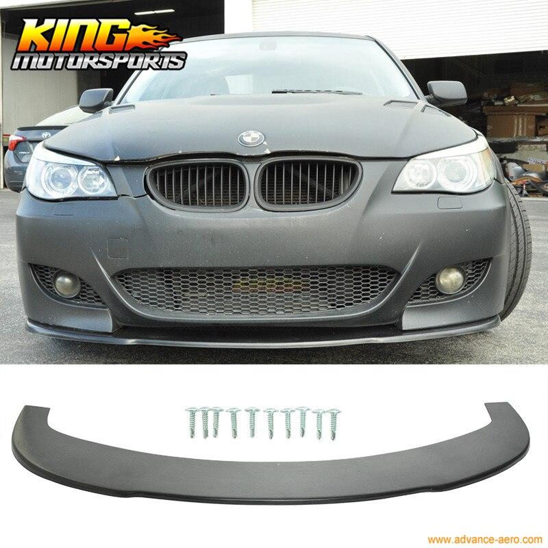 Pour 04-10 BMW E60 5 Série M5 Sous Avant becquet de pare-chocs Splitter (PU)