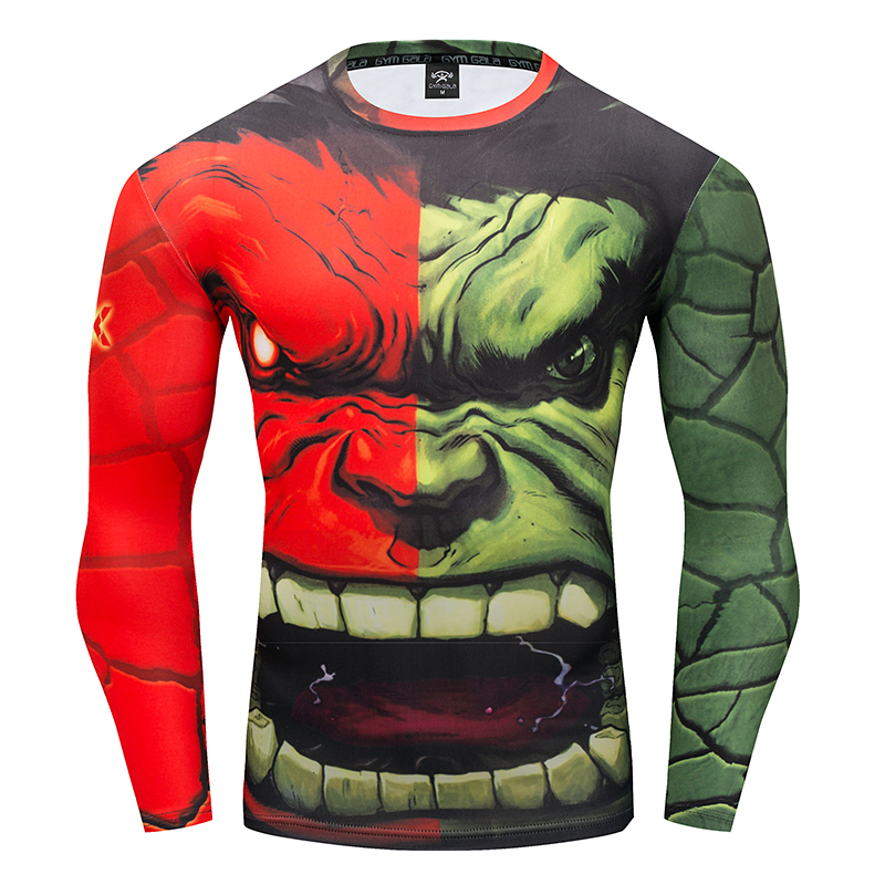 Gyms men's t-shirt 3D Superhero Hulk work out Fitness casual t-shirt Summer Quick drying stretch tops Round neck fitness t-shirt