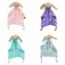 Kawaii Soft Bear Appease Baby Towel Toys for Newborns Soothe Reassure Teddy Bear Blankie Towel Educational Rattles Clam Toy A010