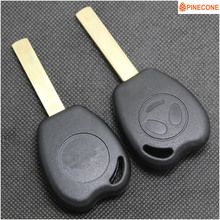 PINECONE Key Case for GEELY PANDA Car Uncut Brass Blade Replace Emergency Shell Casing Fob