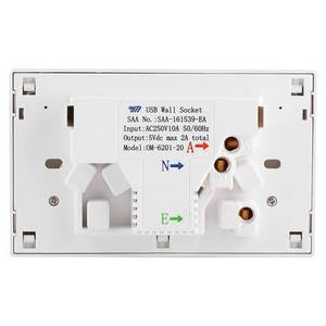 Image 3 - Double USB 2 Switch Electrical Wall Socket Australian AU Plug Home Power Point Supply Plate Home Improvement Tools