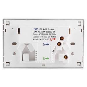 Image 3 - Đôi USB 2 Công Tắc Điện Ổ điện Úc ÂU Cắm Điện Gia Đình Điểm Cung Cấp Đĩa Nhà Cải Tiến Dụng Cụ
