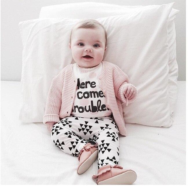 Stoere Babykleding Voor Meisjes.Lente Herfst Meisje Kleding Brief Patroon Baby Meisjes Kleding Set