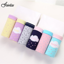 Fainlise Sexy Women's Briefs Cotton Mid Waist Panties Cute Candy Color Underwear for Female Intimate Lingerie 6Pcs/lot