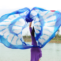 Wholesale belly dance veil girls silk semi circle veil women belly dance accessories dancer's belly dance performance veil M/L
