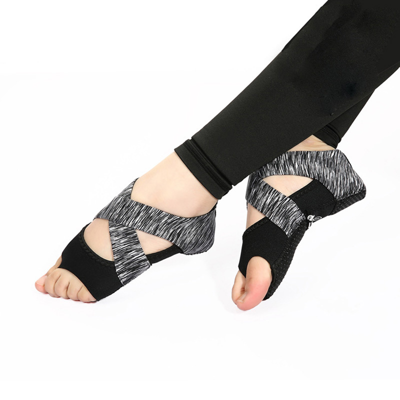 Professional Fitness Ladies Girls Women Antiskid Sport Pilates Yoga Non Slip Grip Elasticity Softness Shoes Air Yoga Socks in Yoga Socks from Sports Entertainment