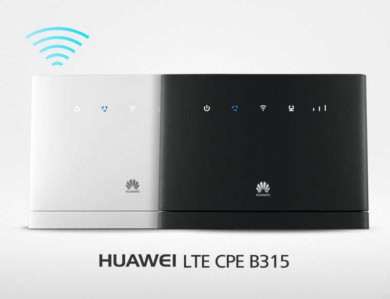 Huawei B315s-22 4G LTE WLAN Router 150Mbit (LTE, HSPA, 32 User) 4-Port with 2pcs B315 antenna