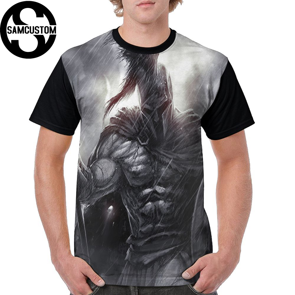 SAMCUSTOM Men T full printing Spartan 3D personalized creative casual spring, summer and autumn men's short sleeve T-shirt