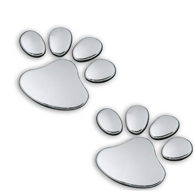 1 PCS New Cute Feet Car Sticker 3D Bear Paw Pet Animal Footprints Car Sticker Truck Decor Decal Accessories 1