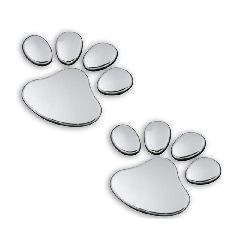 1 PCS New Cute Feet Car Sticker 3D Bear Paw Pet Animal Footprints Car Sticker Truck Decor Decal Accessories 1