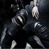7 Размеры плюс Размеры funky Япония Punk Для Мужчин's Повседневное Slim Fit Тощий ПУ Искусственная кожа на молнии хип-хоп бегунов костюм клубная одеж...