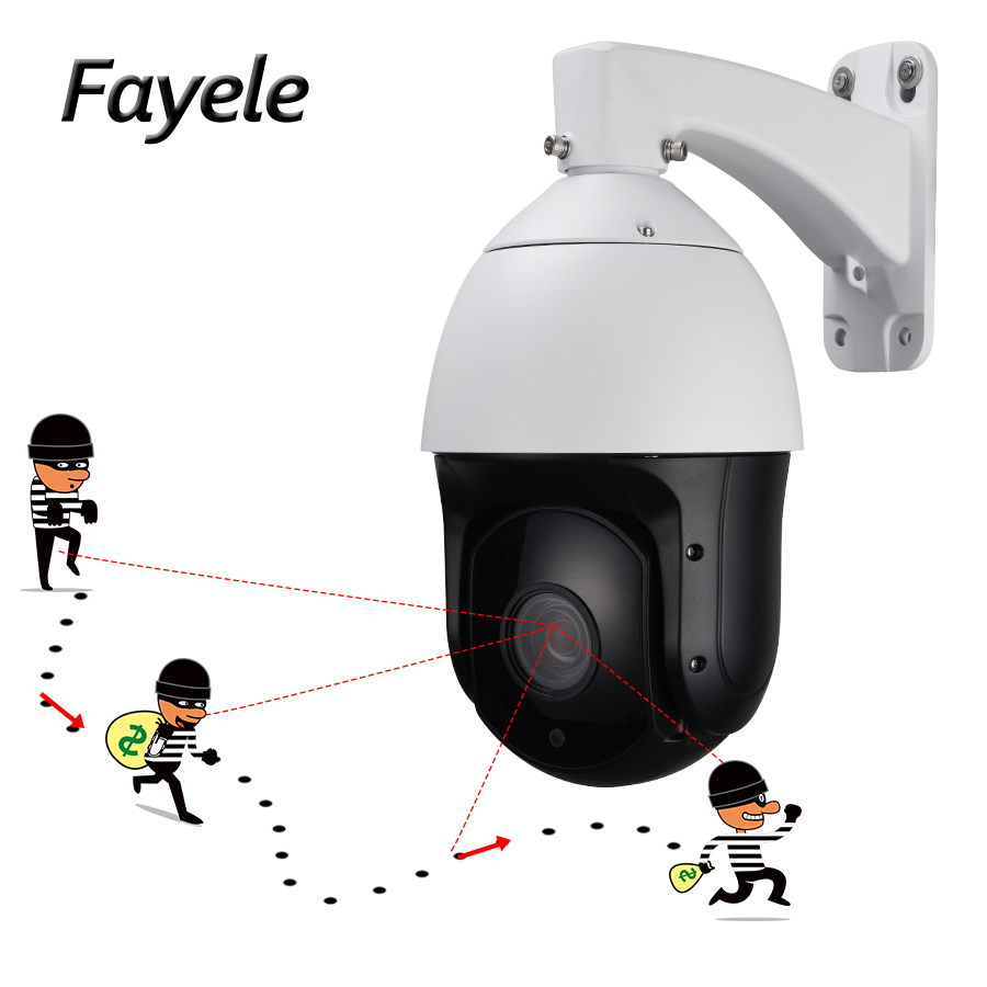 Outdoor Security POE 1080P 2.0MP Auto Tracking PTZ Camera High Speed HD IP Tracker 20X ZOOM IR 300M Auto Focus Pan/Tilt Audio In auto tracking ptz full hd1080p ir ip camera with 8g sd card 20x zoom camera
